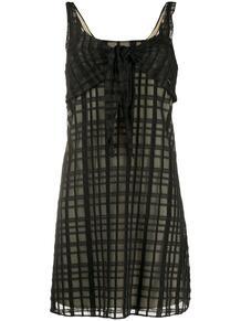 платье миди в клетку Chanel Pre-Owned 149788445248