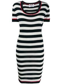 приталенное платье в полоску Moschino Pre-Owned 1418472783