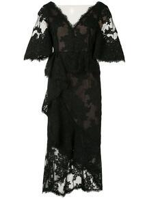 кружевное коктейльное платье Marchesa 1475928752