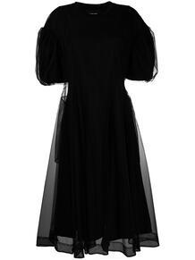 платье со вставкой из тюля SIMONE ROCHA 163949958883