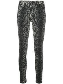 укороченные брюки скинни со змеиным принтом John Richmond 149846765057