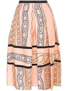 юбка миди с принтом цепочек Marni 136204805250