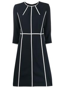 платье с рукавами три четверти и полосками Escada 144478785152