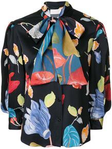 блузка с бантом и цветочным принтом Peter Pilotto 149405914952