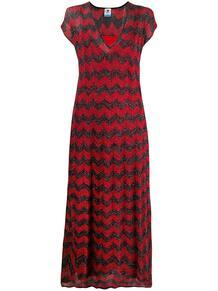 трикотажное платье с узором шеврон и блестками M Missoni 149402985252