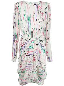 платье миди с абстрактным принтом и драпировкой Isabel Marant 151135345156