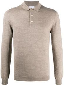 трикотажная рубашка поло с длинными рукавами Boglioli 1573139683
