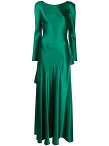расклешенное платье с V-образным вырезом на спине ALBERTA FERRETTI 157052565252