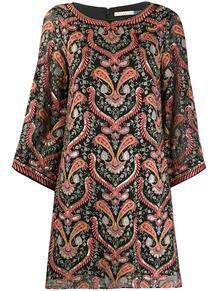 платье мини с рукавами три четверти Alice+Olivia 1586623748