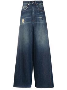 широкие джинсы с лампасами MM6 Maison Margiela 153222675154