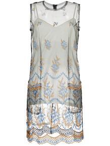 прозрачное платье с вышивкой Comme Des Garçons Pre-Owned 1232801083