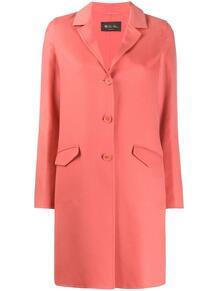 однобортное пальто средней длины Loro Piana 151997545248