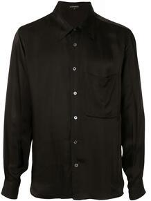 атласная рубашка со съемным воротником Ann Demeulemeester 1533731883