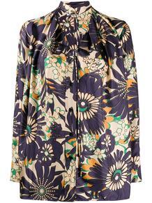 блузка с цветочным принтом Victoria Beckham 1573929654