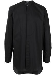 удлиненная рубашка с воротником-стойкой Ann Demeulemeester 1606410983