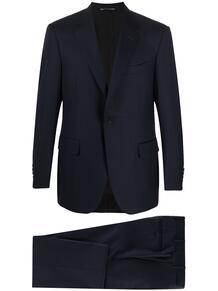 костюм с однобортным пиджаком Canali 158181515356