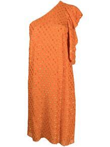 платье на одно плечо с узором в горох L'Autre Chose 163595615250