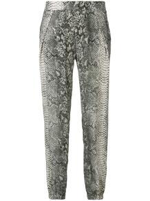 брюки со змеиным принтом GOLD HAWK 1376133883