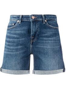 джинсовые шорты с подворотами 7 for all mankind 149578785052