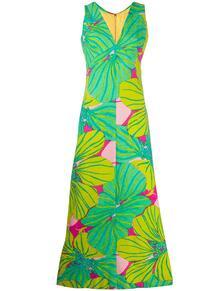 укороченное платье с цветочным принтом 1960-х годов A.N.G.E.L.O. Vintage Cult 141704815250
