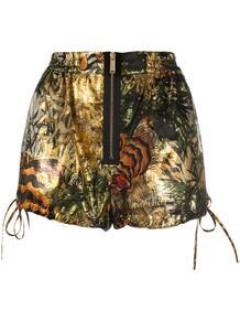 шорты из ткани ламе с принтом Dsquared2 148849485156
