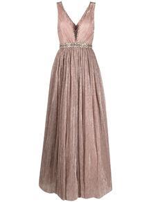 вечернее платье с плиссировкой и пайетками Jenny Packham 161512954948