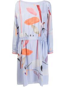 платье-трапеция с принтом ea7 139921495250