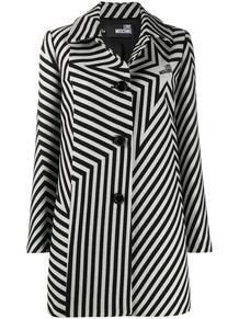 однобортное пальто с принтом Love Moschino 156816945252