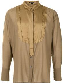 рубашка оверсайз с воротником-стойкой Ann Demeulemeester 160641075156