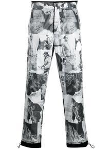спортивные брюки с графичным принтом MONCLER 164182555348