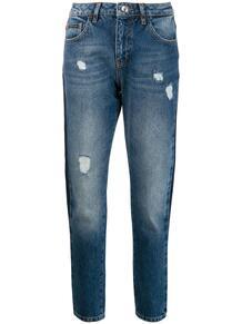 джинсы бойфренды с лампасами PHILIPP PLEIN 140534275054
