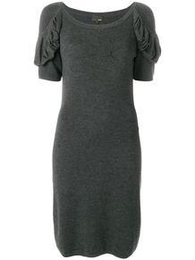 платье с драпированными рукавами Fendi Pre-Owned 128779765256