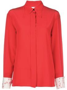 блузка на пуговицах с принтом на манжетах Victoria Beckham 146018414952