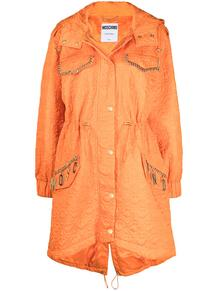 однобортное пальто с цепочкой Love Moschino 160442465250