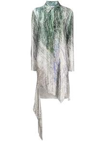 платье-рубашка с принтом OFF-WHITE 147497095154