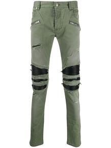 брюки кроя слим с эффектом потертости BALMAIN 146825695149