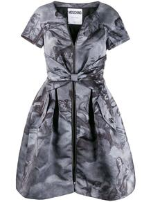 платье 1990-х годов с принтом и поясом Moschino Pre-Owned 147339865248