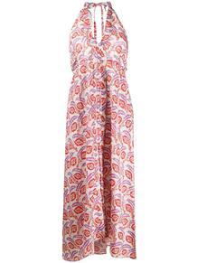 платье с вырезом халтер и принтом Isabel Marant 152174745248