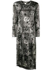 платье с длинным рукавом с принтом Comme Des Garçons Pre-Owned 1318202283