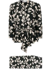 костюм с юбкой и принтом 1970-х годов Yves Saint Laurent Pre-Owned 138100815250