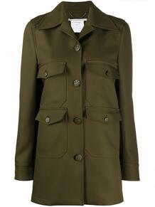 куртка в стиле милитари с карманами Stella Mccartney 150315275248