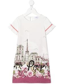 платье-трапеция с принтом Paris Monnalisa 156341794949