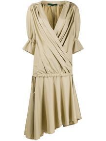 многослойное платье миди с запахом JEJIA 154049245156
