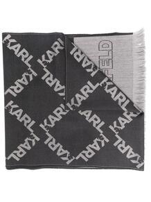 шарф вязки интарсия с логотипом Lagerfeld 15613116636363633263