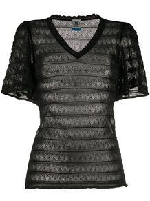 полупрозрачная футболка с узором зигзаг M Missoni 148457495252