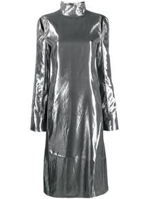 платье с эффектом металлик и вырезами ACNE STUDIOS 160337255152
