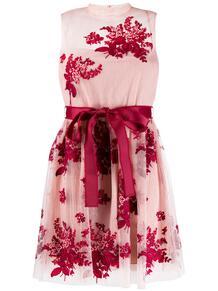 платье из тюля с вышивкой RED VALENTINO 144094425156
