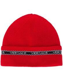 шапка бини с контрастным логотипом Versace 14725568636363633263