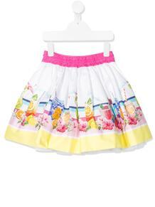 расклешенная мини-юбка с графичным принтом Monnalisa 152113634950