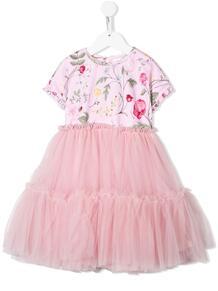платье с юбкой из тюля Monnalisa 1410376251